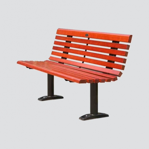 FW26 outdoor park wood bench