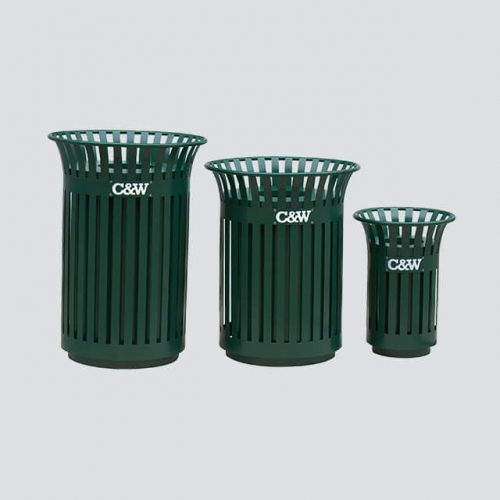 BS11 outdoor steel trash bin