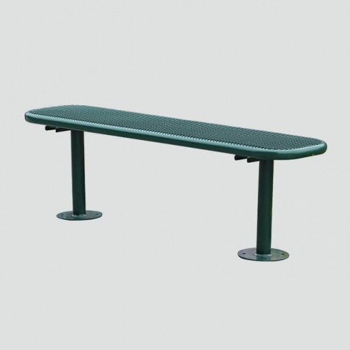 backless outdoor leisure bench furniture