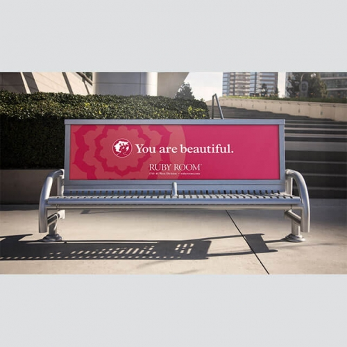 outdoor steel leisure long bench