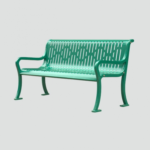 modern steel metal park benches