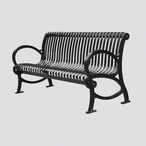 long patio steel park bench