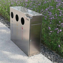 BS24 stainless steel park waste bin