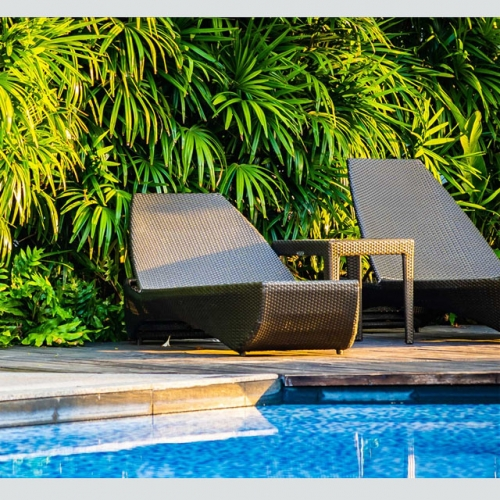 RC08 Aluminum Sun Lounge Chair Sun Bed loungers Beach Sunbed