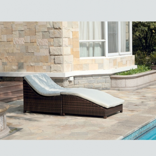 RC13 All weather aluminum frame wicker sun lounger beach sunbed