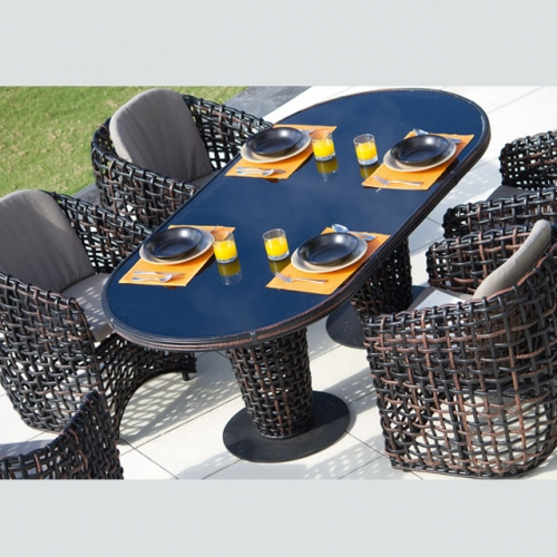Arlau RTC-12 outdoor leisure rattan picnic table