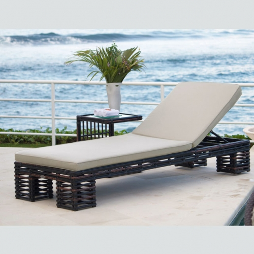 RC04 New Design Wicker Patio Furniture Garden Outdoor Rattan Chaise Beach Lounge And Sunbed