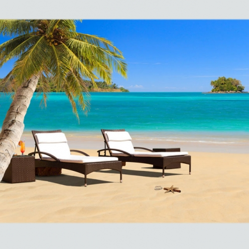 RC06 Outdoor pool sunbed beach lounge chair with round coffee table