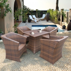 RTC-14 rattan outdoor furniture picnic table