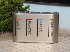 BS30 Outdoor Stainless Steel Trash Can