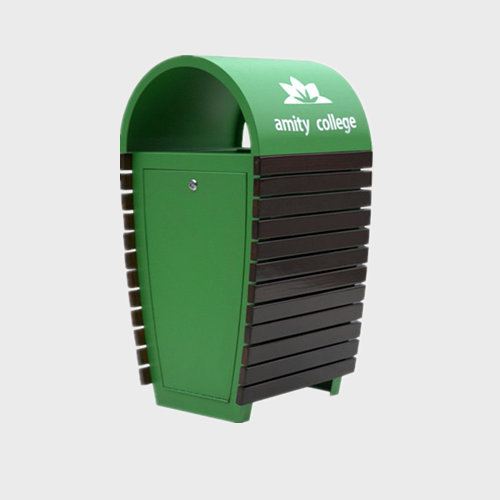 BS84 School trash green trash bin