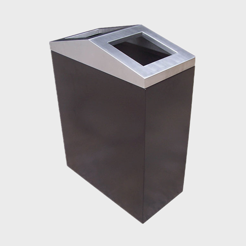 decorative outdoor garbage trash can