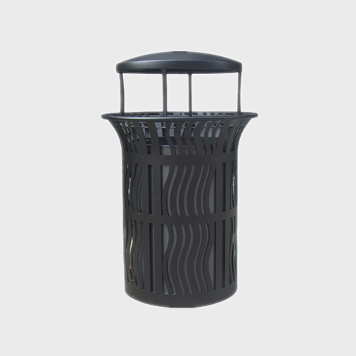 BS56 outdoor dustbin with lid metal bin
