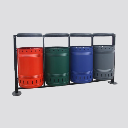 BS74 dustbin color compartment garbage bins
