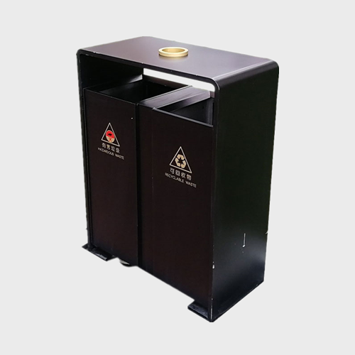 BS75 Metal outdoor dustbin