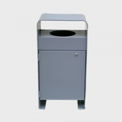 Metal square dustbin trash bin