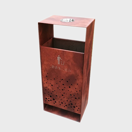BS91 Outdoor metal dustbin garden garbage bin