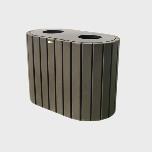 BW24 Outdoor Wooden Rubbish Bin