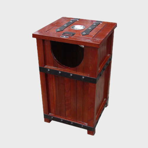 Wooden Outdoor Trash Bin for sale