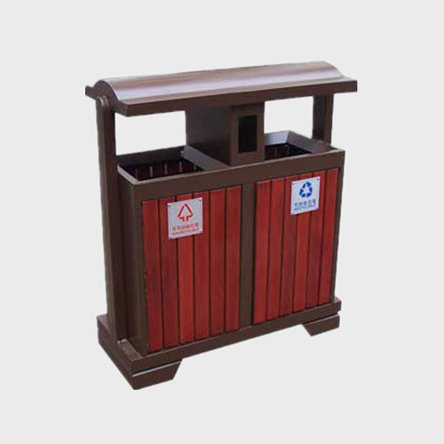 outdoor large wooden recycle dustbin