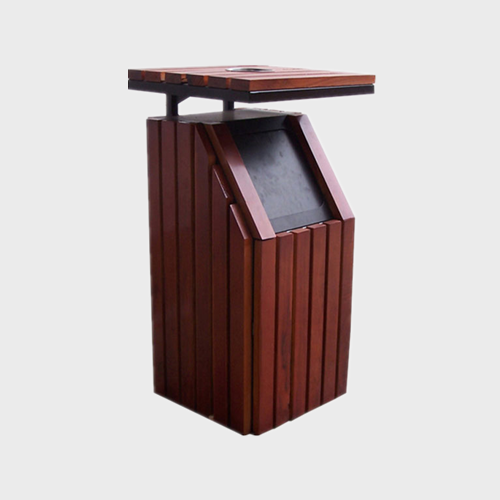 outdoor park wooden Litter Bin