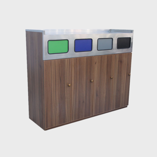 Outdoor Street Wooden Waste Bin
