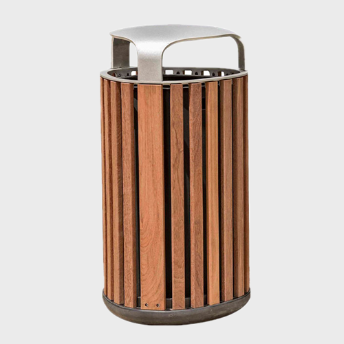 decorative outdoor wooden garbage cans