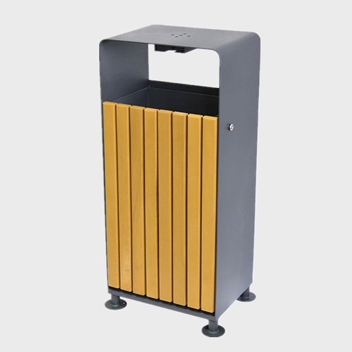 BW51 Outdoor Park Solid Wood Trash Bins