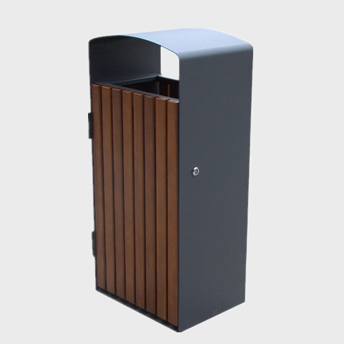 BW65 Outdoor Park Solid Wood Trash Bins