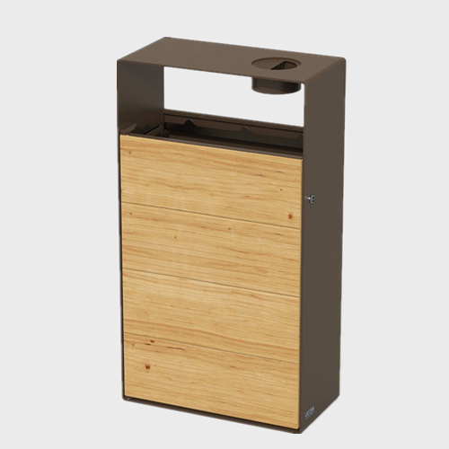 BW58 Outdoor Wooden Trash Can