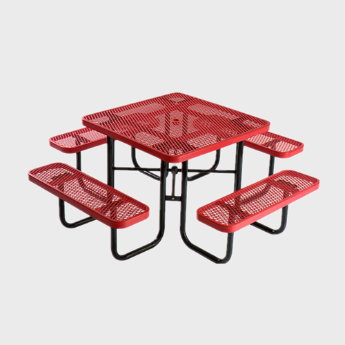TB81 Square picnic table and benches