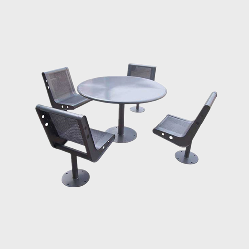 TB04 Outdoor stainless steel table and chair