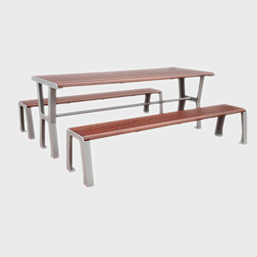 TB33 Outdoor wood picnic table chair set
