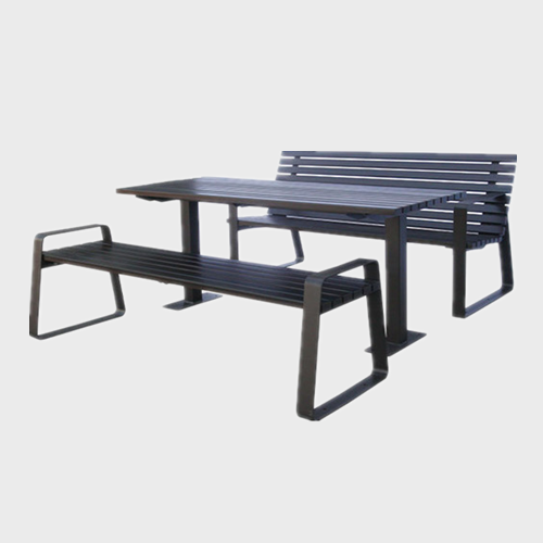 TB36 Park dining wpc table and benches