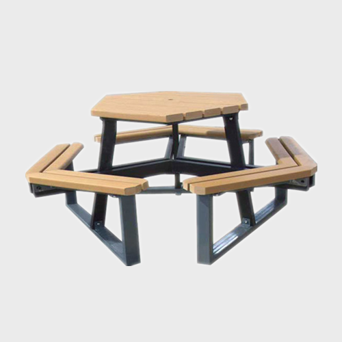 TB84 wood table and bench set