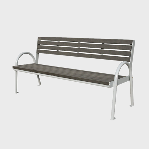 outdoor modern wood park bench