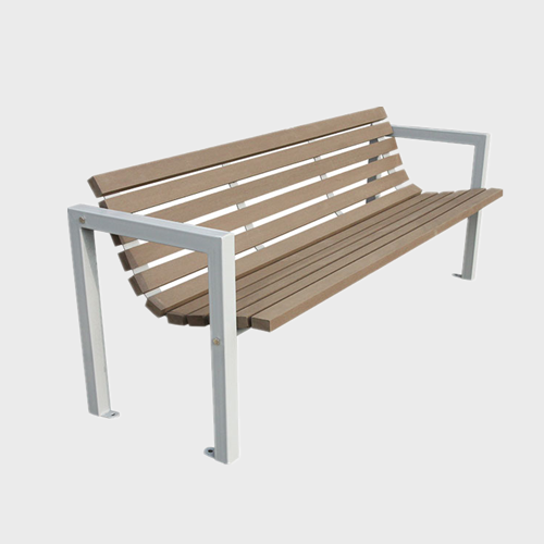 wood cast aluminum park bench