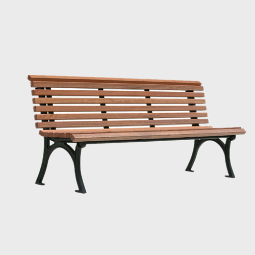 FW30 outdoor cast iron garden wooden long bench
