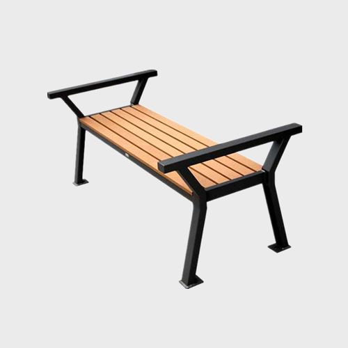 FW33 Backless outdoor leisure wood benches seat