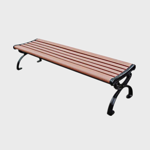 FW37 Backless wood plastic composite garden bench