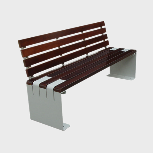 Urban outdoor wood bench furniture