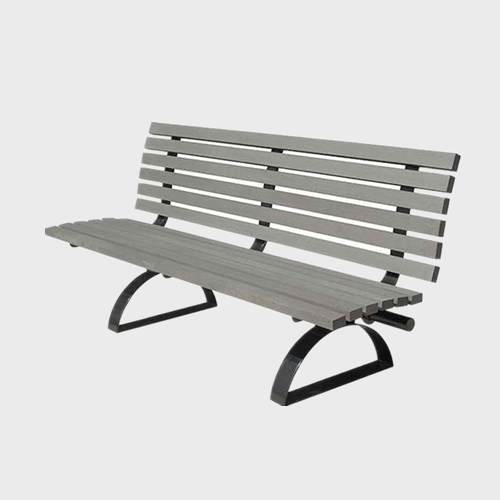 Wood plastic composite street bench