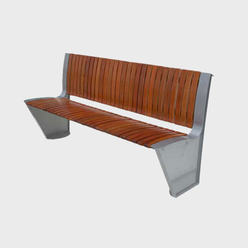 Street furniture bench with backrest
