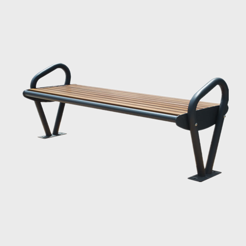 waterproof steel wood sitting bench