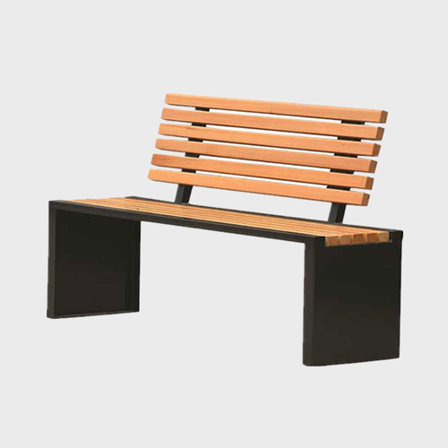 Outdoor park comfy wooden bench