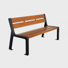 Outdoor Street Park Solid Wood Benches