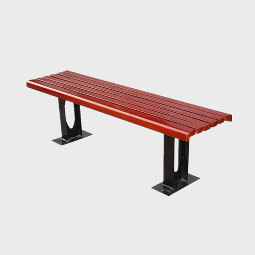 Backless wood garden seat bench