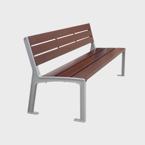 Street WPC wood rustic sitting bench