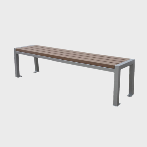 FW73 Backless outdoor wood bench