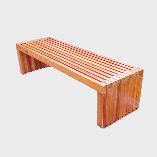 FW74 Backless wood garden bench